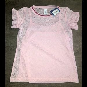 NWT girls size 14 lace blouse with cami